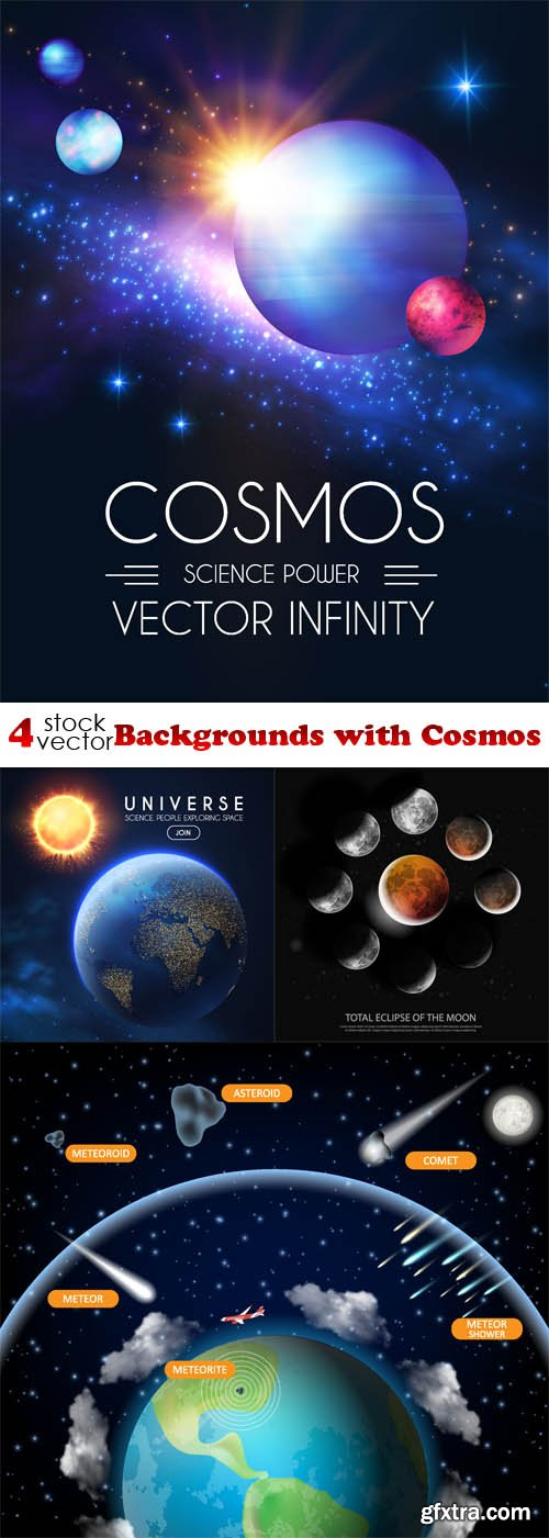 Vectors - Backgrounds with Cosmos