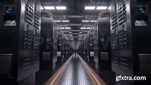 Digital Server Room Loop Background 230338
