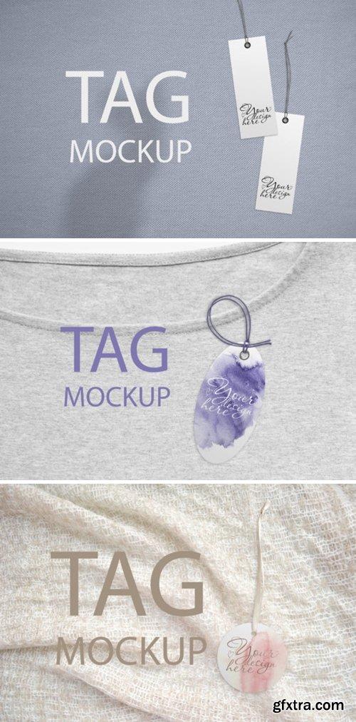 Round Tag Mockup