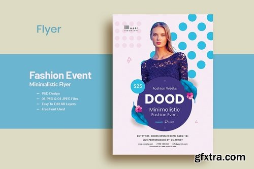 Fashion Event Minimalistic Flyer