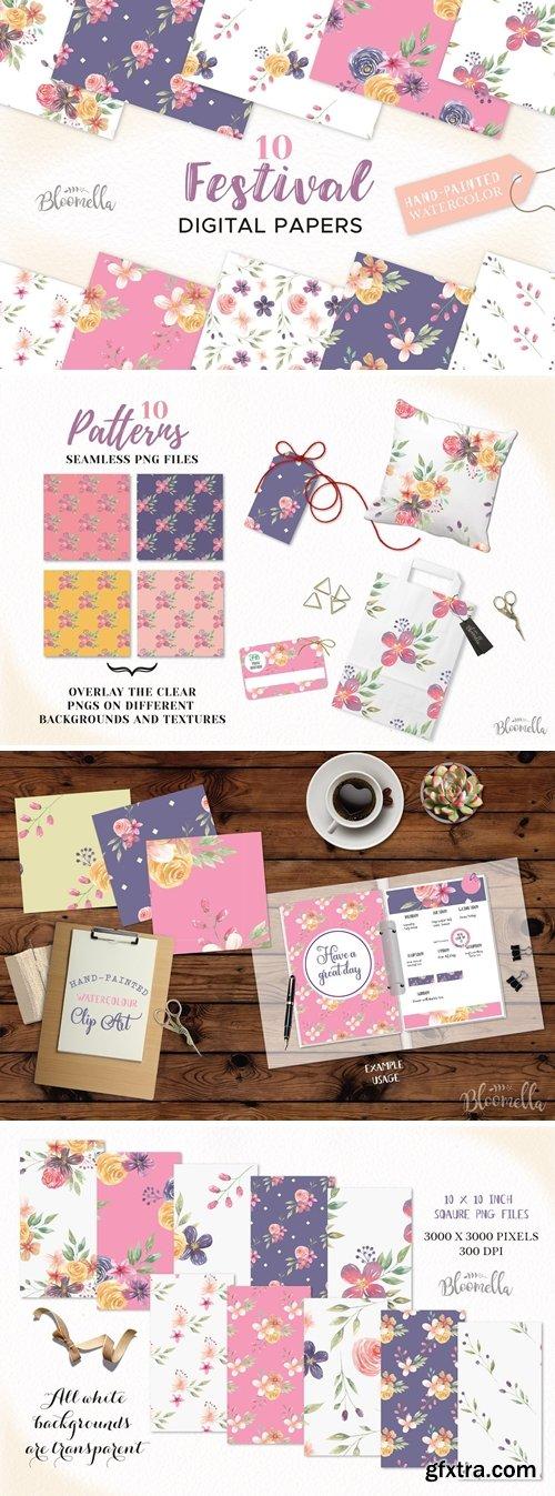 CM - Festival Patterns Floral Flowers Set 2573830