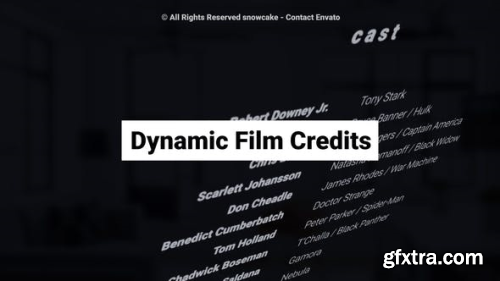 VideoHive Dynamic Film Credits 23822035