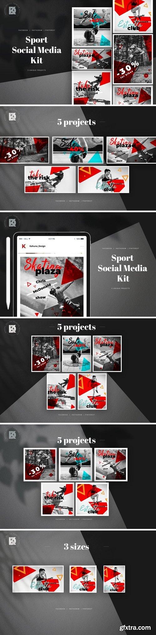 Sport Monochrome Social Media Pack