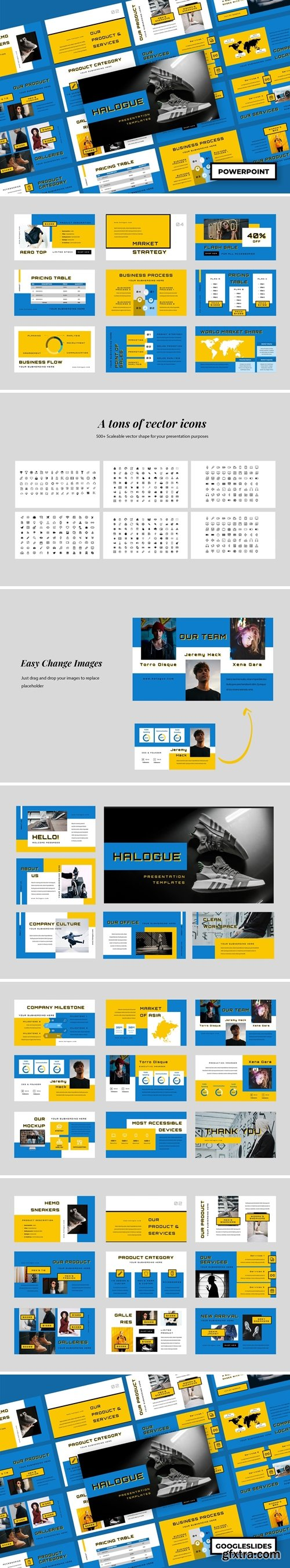 Halogue - Creative Powerpoint, Keynote and Google Slides Templates