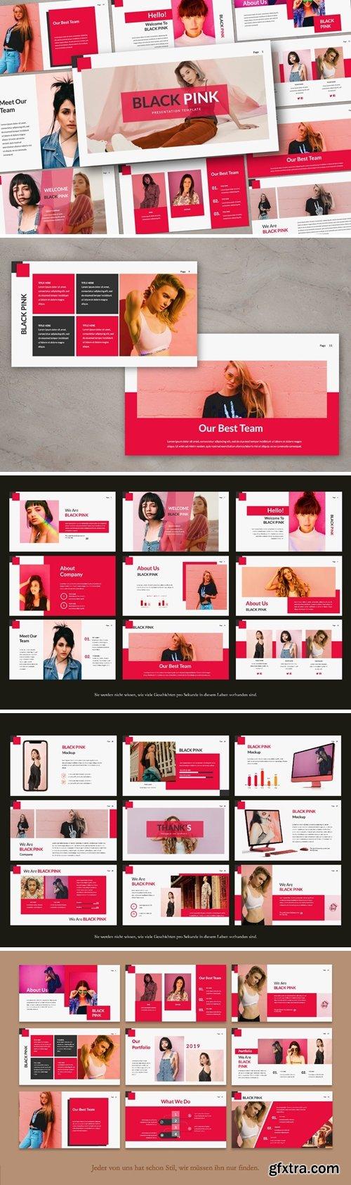 Black Pink Presentation Powerpoint, Keynote and Google Slides Templates
