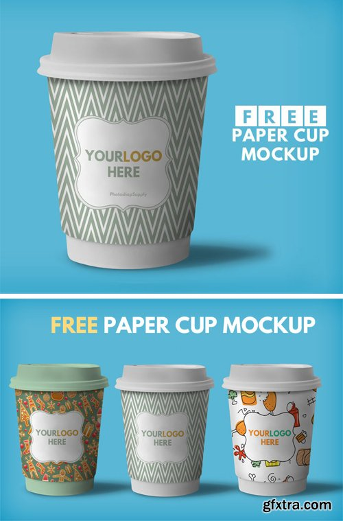 Paper Coffee Cup Mockup, part 13