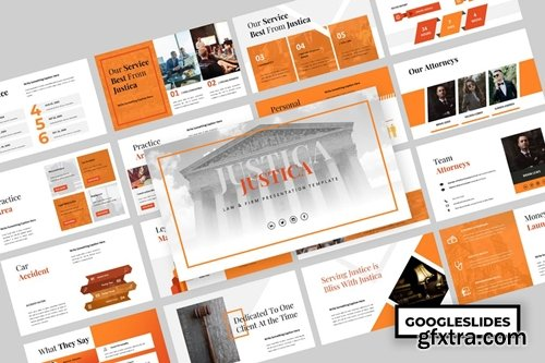 Justica - Law & Firm Powerpoint, Keynote and Google Slides Templates