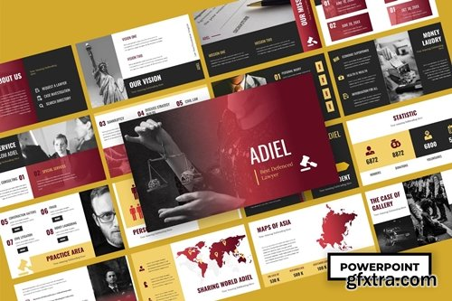 Adiel - Law & Firm Powerpoint, Keynote and Google Slides Templates
