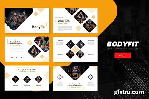 Bodyfit - Fitness Powerpoint, Keynote and Google Slides Templates