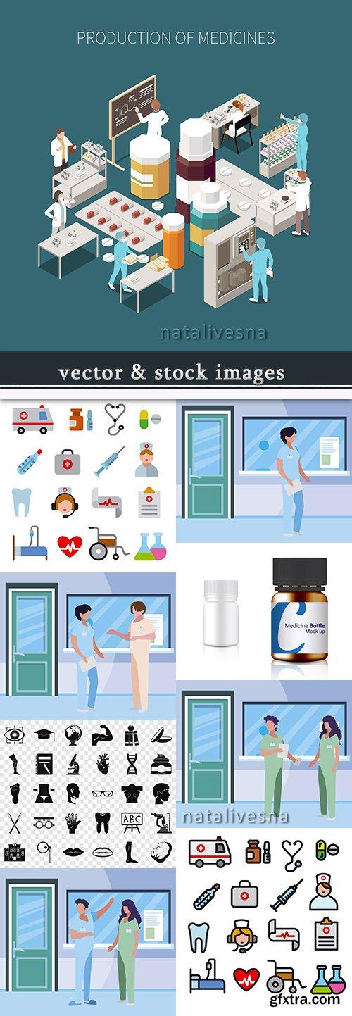 Medicine professional doctor and equipment diagnostics 10