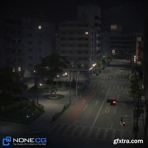Cgtrader - Japan 4 Blocks Set-2 3D model