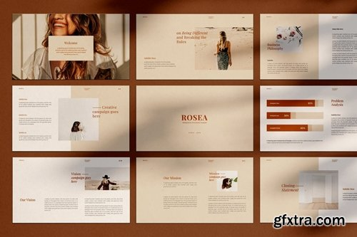 ROSEA Powerpoint, Keynote and Google Slides Templates