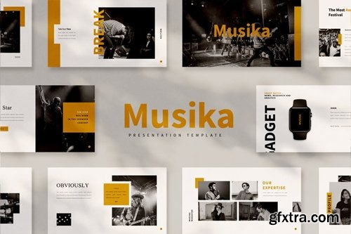 Musika Powerpoint, Keynote and Google Slides Templates