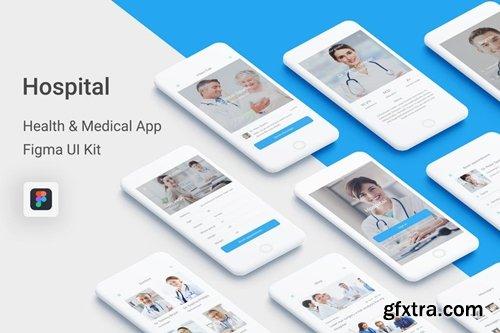 Hospital - Health & Medical Mobile App for Figma