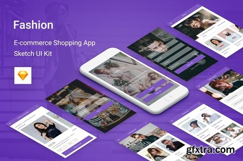 Fashion - Ecommerce Shopping App for Sketch