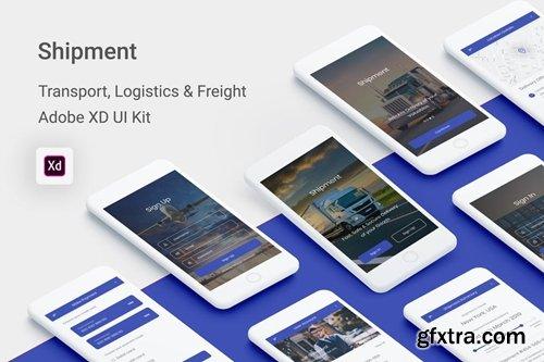Shipment -Transport, Logistic & Freight (Adobe XD)