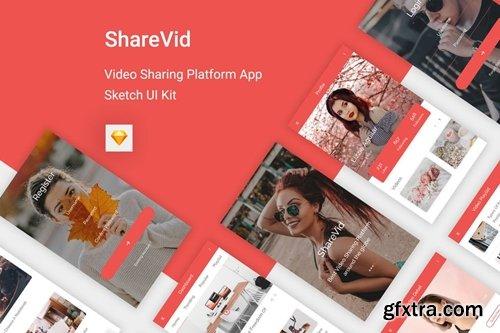 ShareVid - Video Sharing Platform App for Sketch