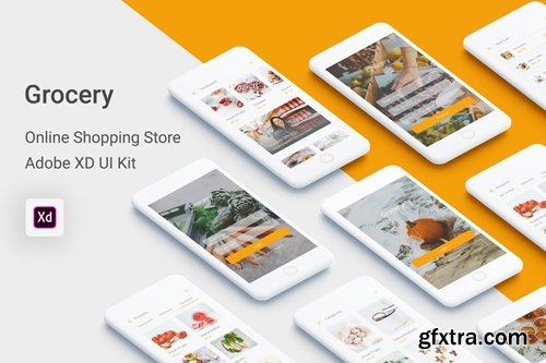Grocery - Online Shopping Store UI Kit in Adobe XD