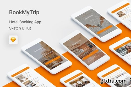 BookMyTrip - Hotel Booking UI Kit for Sketch