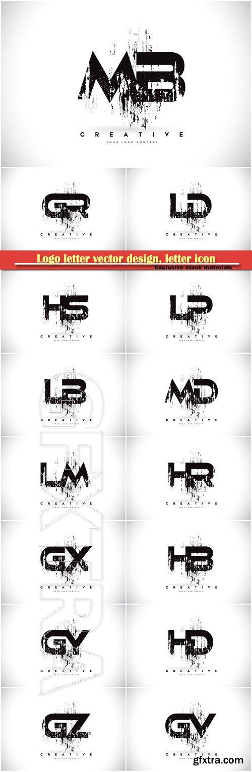 Logo letter vector design, letter icon # 22