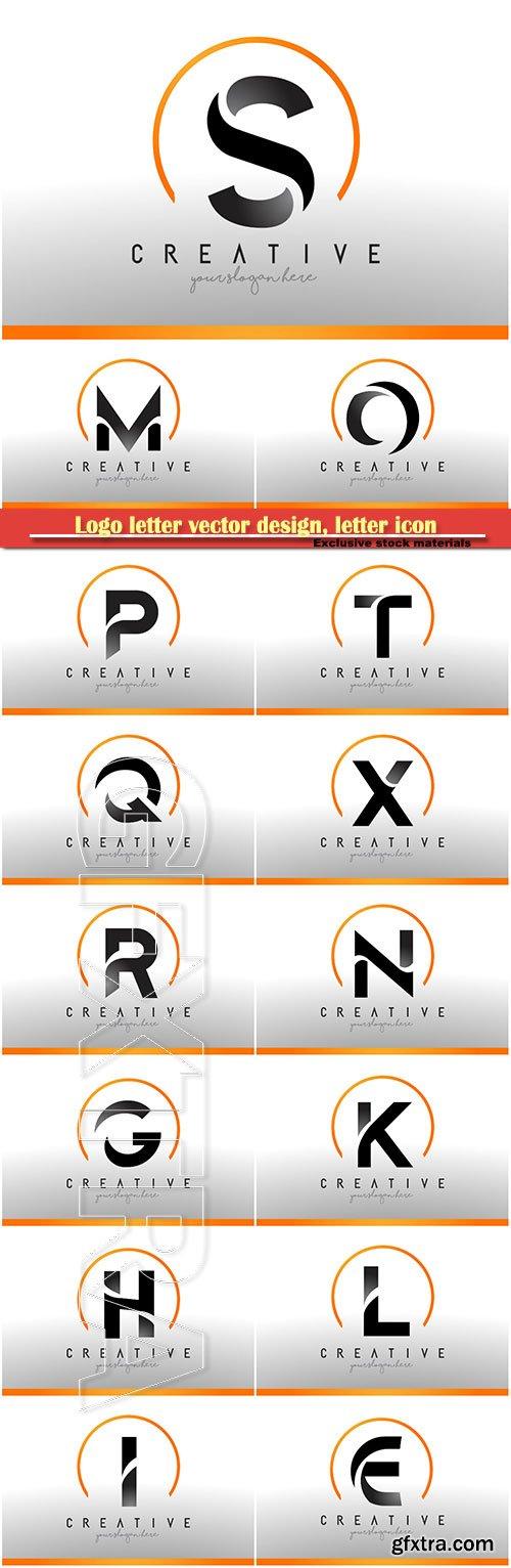 Logo letter vector design, letter icon # 24