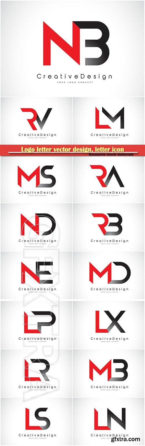 Logo letter vector design, letter icon # 26
