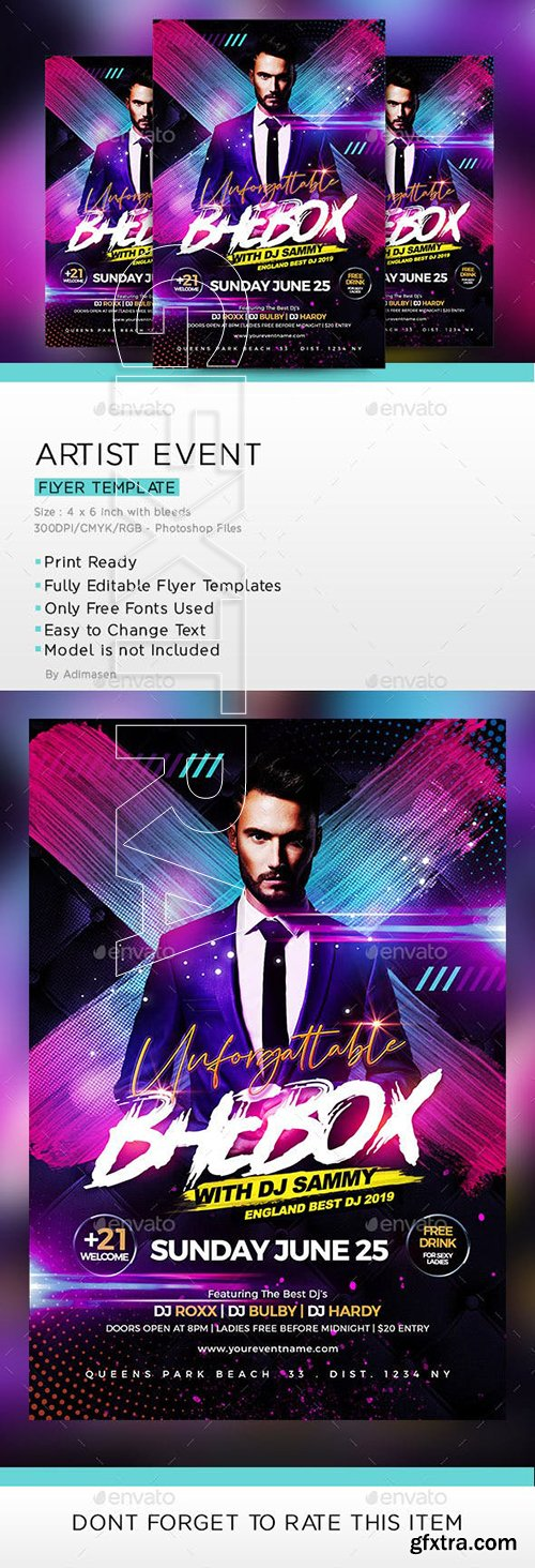 GraphicRiver - Artist Music Event Flyer 23781610