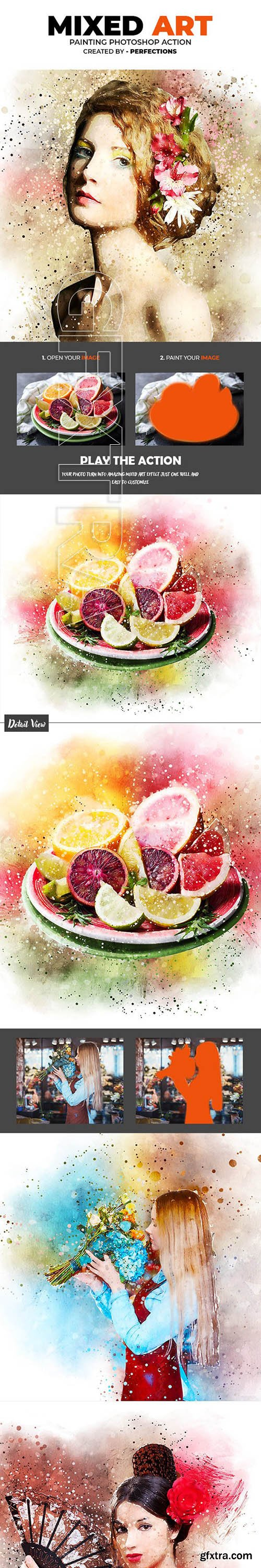 GraphicRiver - Mixed Art Painting Photoshop Action 23646288