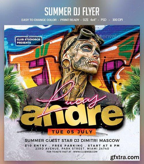 GraphicRiver - Summer Dj Flyer 23780988