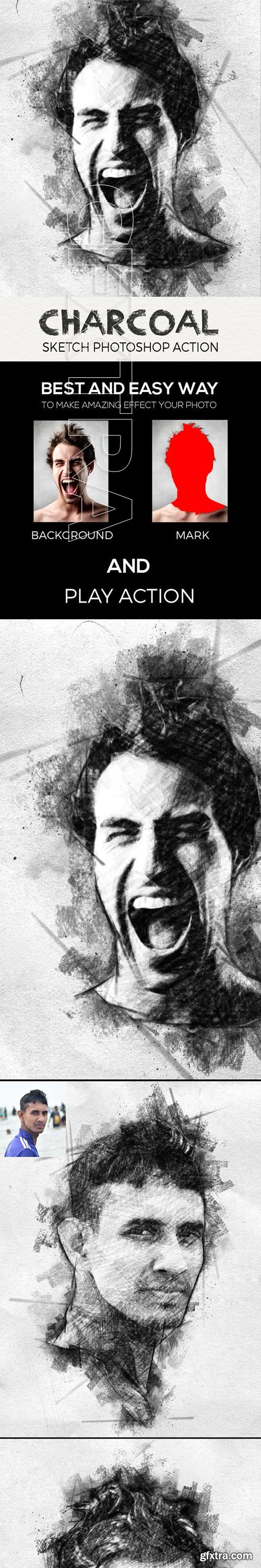 GraphicRiver - Charcoal Sketch Photoshop Action 23561887