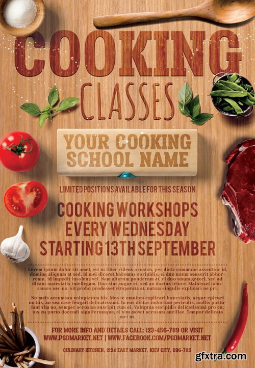 Cooking Classes – Premium Flyer PSD Template