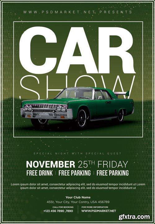 Car Show Event Flyer – PSD Template