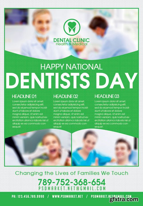 Dentists Day – Premium Flyer PSD Template