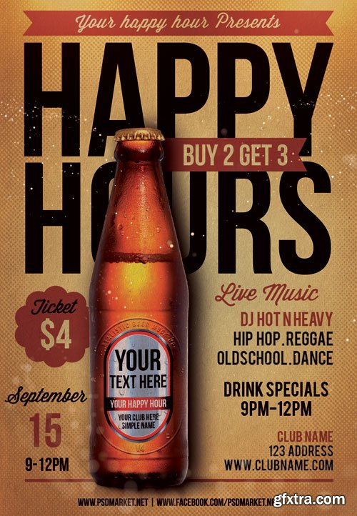 Happy Hours – Premium Flyer PSD Template