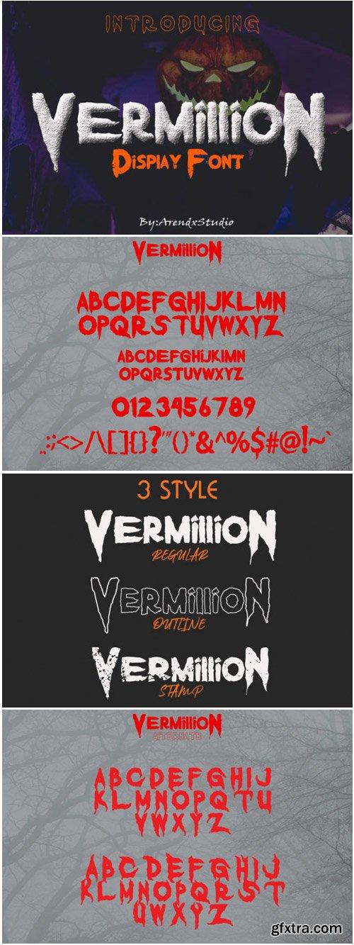 Vermillion Font
