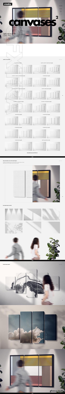 CreativeMarket - Split Canvas Prints Mockup Set 3737042