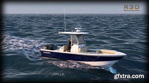 Everglades 273 Sport Fishing Boat 3d Model