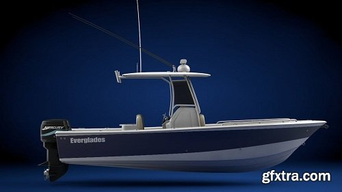 Everglades 273 Sport Fishing Boat 3d Model
