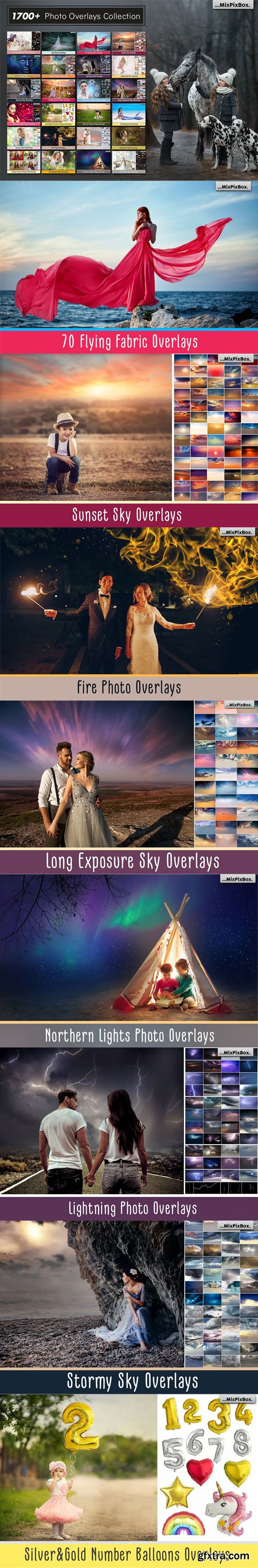 1700+ PHOTO OVERLAYS, LONG EXPOSURE, GLITTER, NUMBER BALLOONS, DIGITAL PAPERS + MORE!