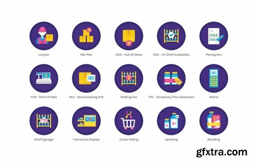 65 Merchandising Icons Orchid Series