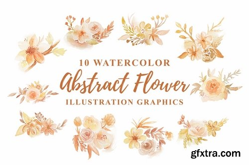 10 Watercolor Abstract Floral Illustration