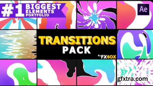 VideoHive Juicy Colorful Transitions | After Effects 23823884