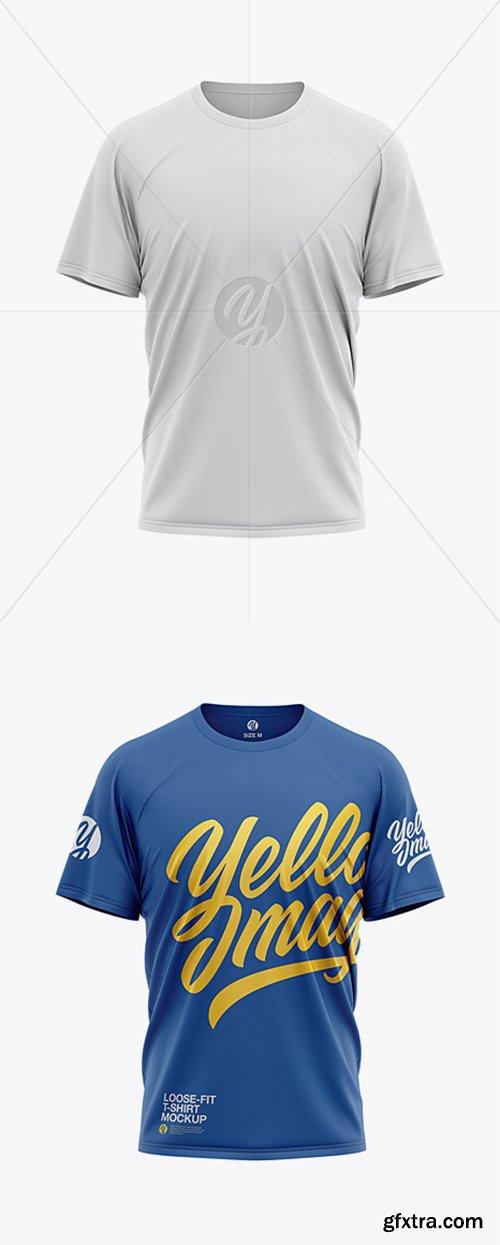 Men's Loose Fit Graphic T-Shirt - Front View 32472