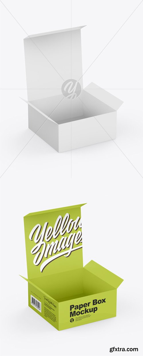Opened Paper Box Mockup 43394