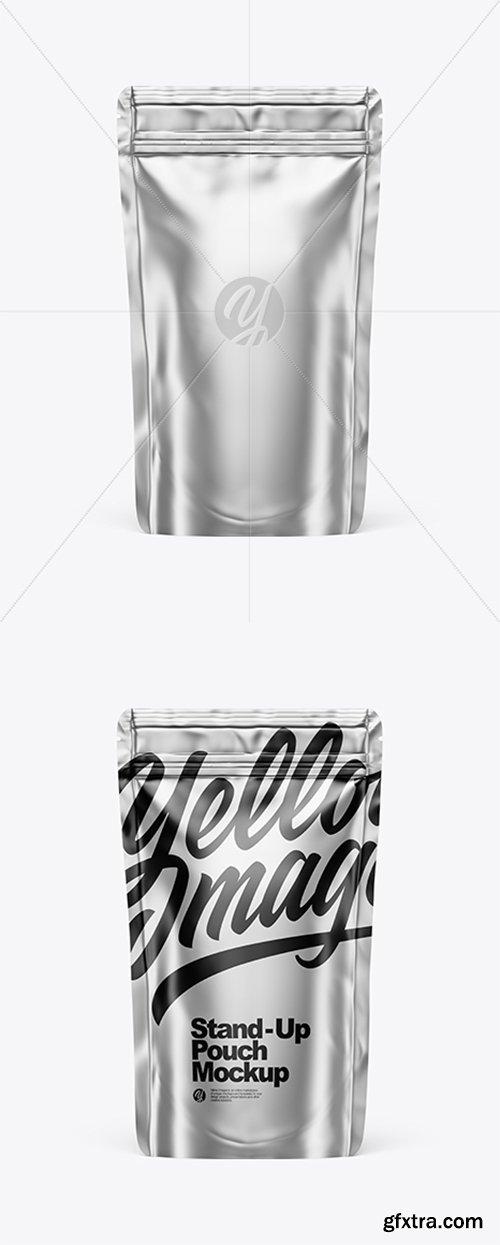 Metallic Stand Up Pouch W/ Zipper Mockup 43384