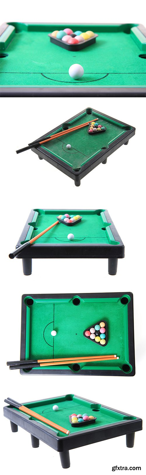Billiard Toy Table Isolated - 6xJPGs