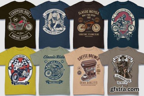 DealJumbo 100 Premium Retro T-shirt Designs