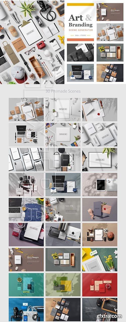 CreativeMarket - Art & Branding Scene Generator 3779040