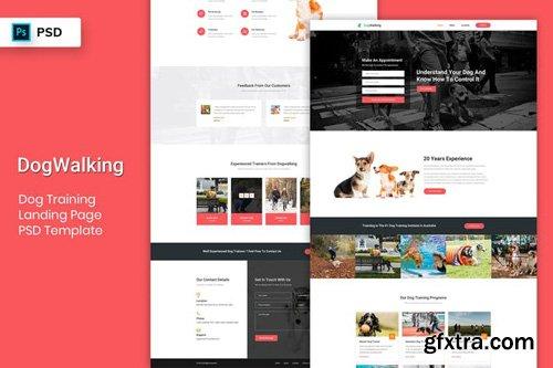 Dog Training - Landing Page PSD Template