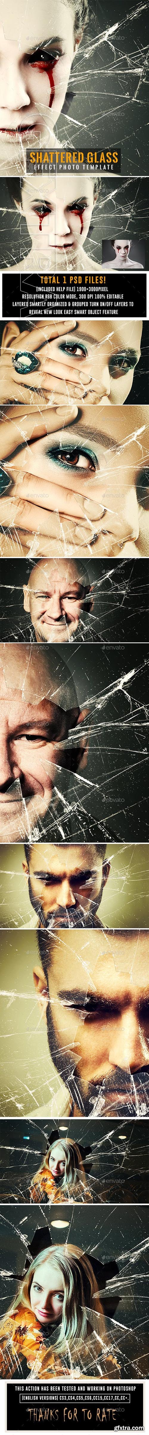 GraphicRiver - Shattered Glass Effect Photo Template 23700524